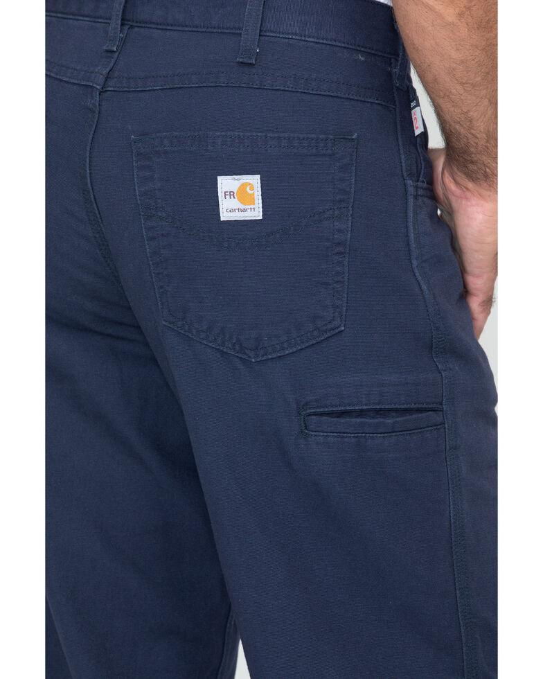 Carhartt Flame Resistant Canvas Work Pants - Big & Tall, Navy, hi-res