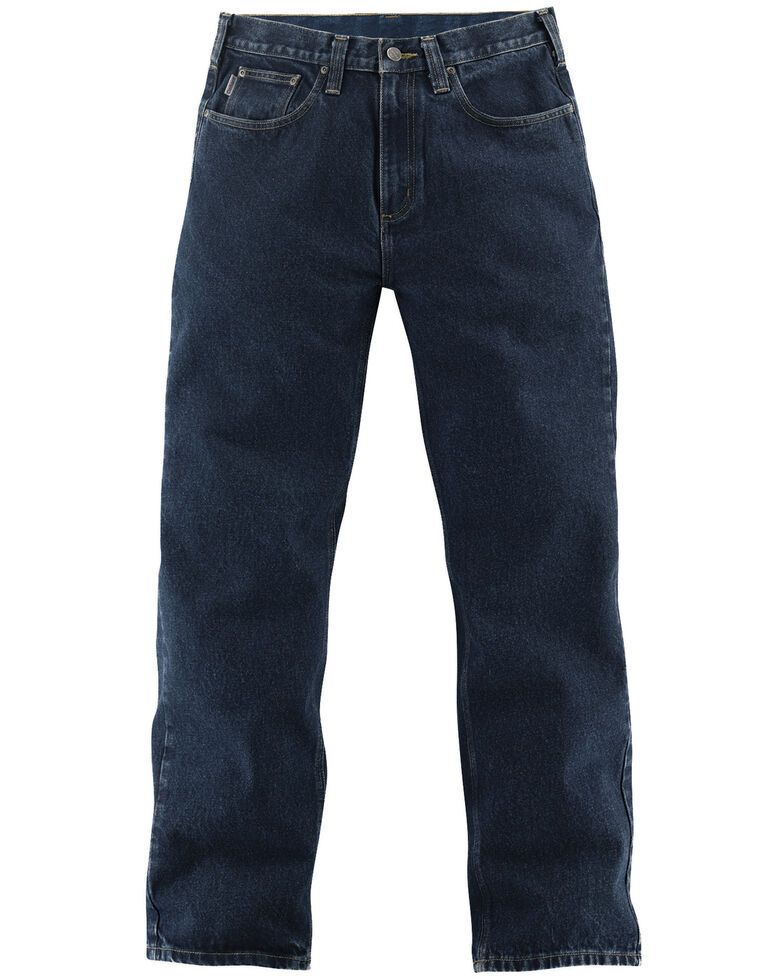 Carhartt Relaxed Fit Straight Leg Five Pocket Work Jeans, Dk Vintage, hi-res