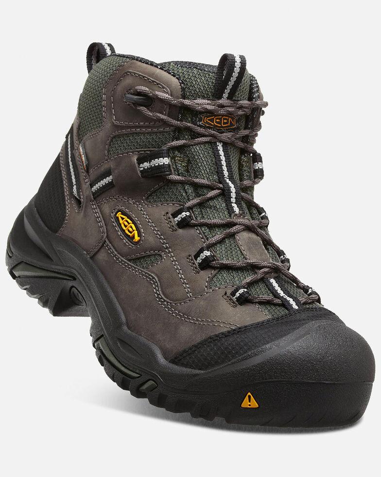 Keen Men's Braddock Waterproof Work Boots - Steel Toe, Forest Green, hi-res