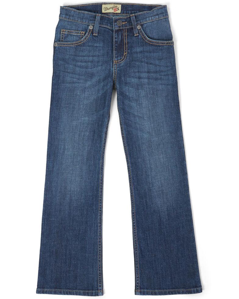Wrangler 20X Boys' No. 42 Monroe Vintage Stretch Slim Bootcut Jeans , Blue, hi-res