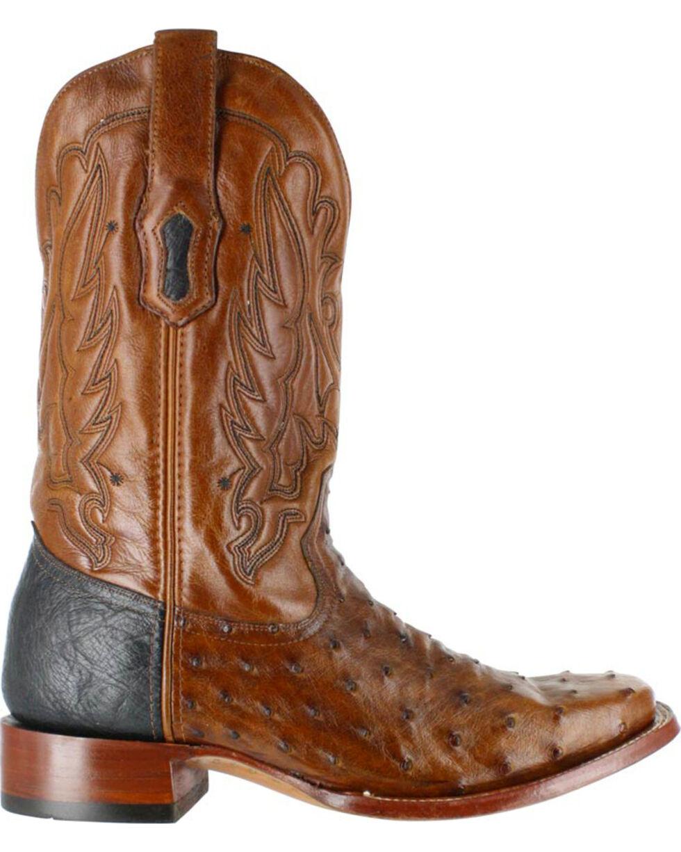 Corral Men's Full Quill Ostrich Western Boots - Square Toe , Cognac, hi-res