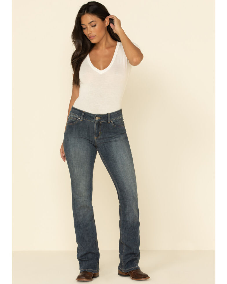 Wrangler Women's Indigo Mid-Rise Bootcut Jeans  , Indigo, hi-res