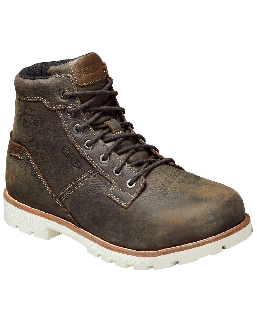 Keen Men's Seattle Waterproof Lace-Up Work Boots - Aluminum Toe, Cream/brown, hi-res