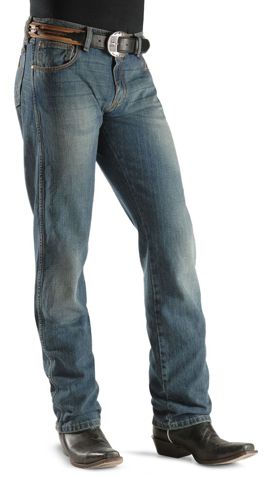 2b0faba4 Zoomed Image Wrangler Jeans - Retro Rocky Top Straight Slim Fit, Faded Blue,  hi-res