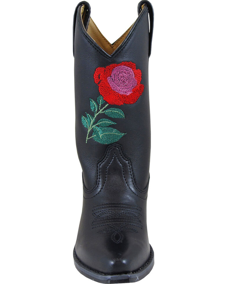 Smoky Mountain Girls' Rosalito Western Boots - Snip Toe, Black, hi-res