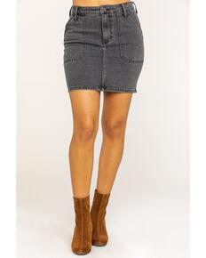 Wrangler Women's Factory Floor Utility Denim Skirt , Dark Grey, hi-res