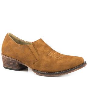 Roper Women's Birkita Classic Shoe Boots - Snip Toe, Tan, hi-res