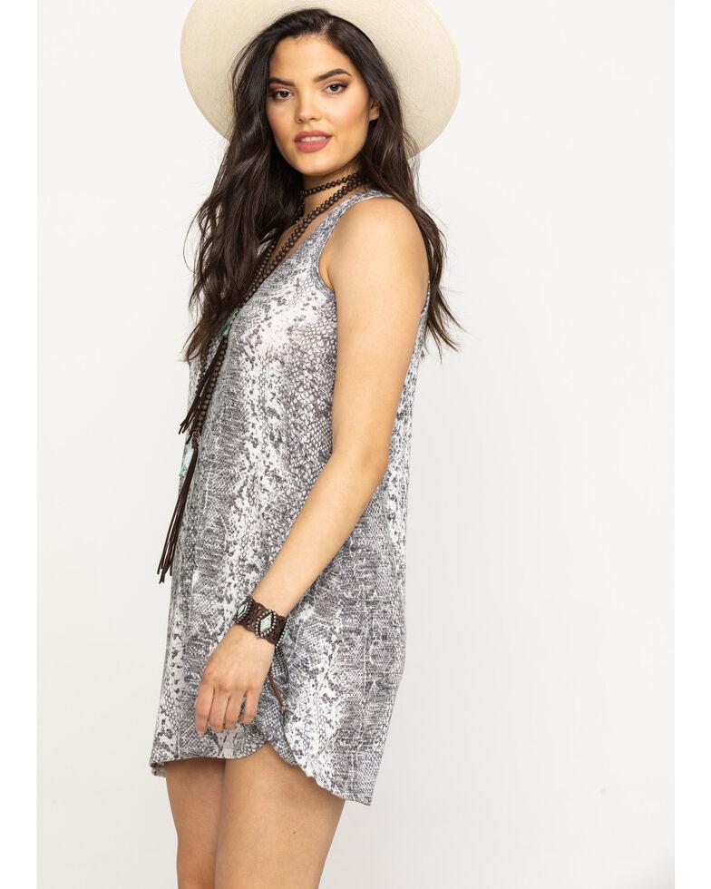 Z Supply Women's Grey Snake Print Slip Dress, Grey, hi-res