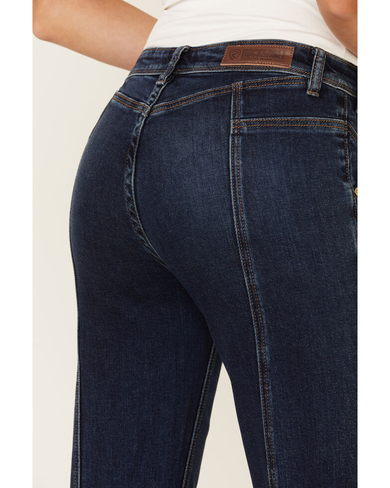 Panhandle Women's Riding Bootcut Jeans, Blue, hi-res