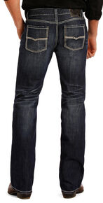 Rock and Roll Cowboy Pistol Dark Wash Jeans - Straight Leg , Indigo, hi-res