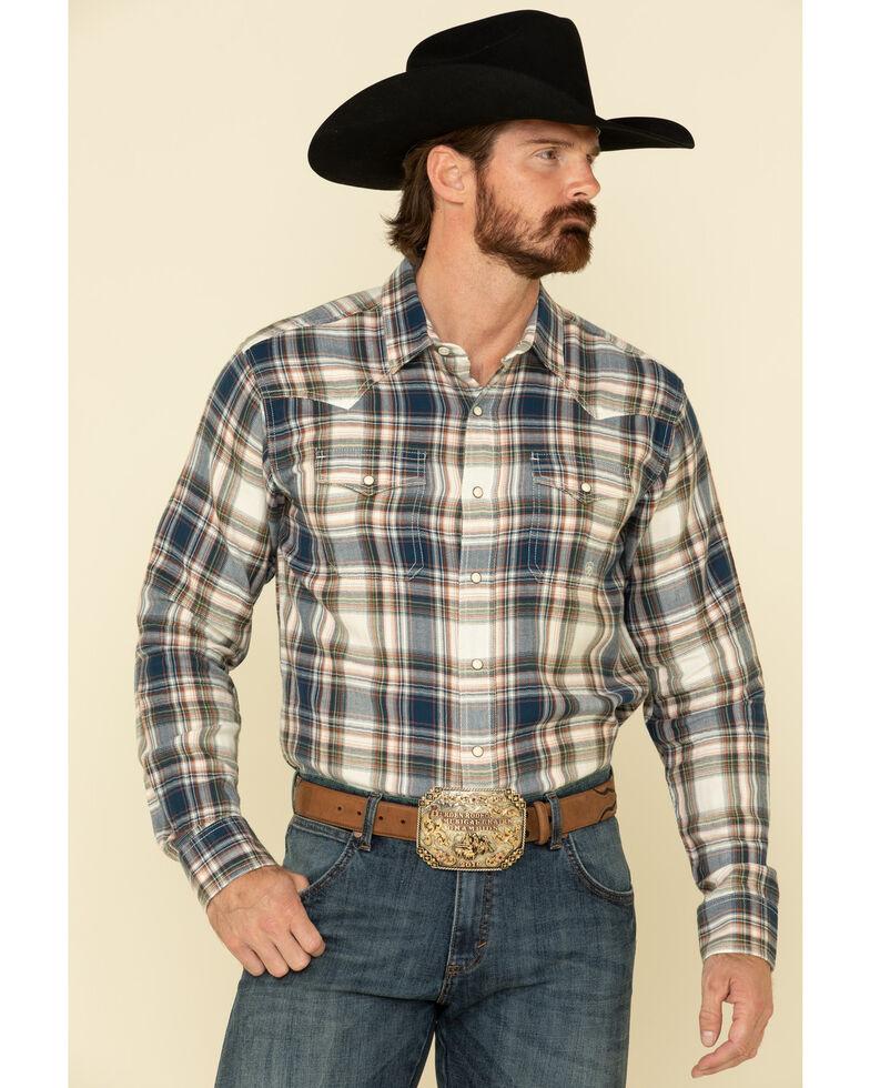 Ariat Men's Hollister Retro Plaid Long Sleeve Western Shirt , Multi, hi-res