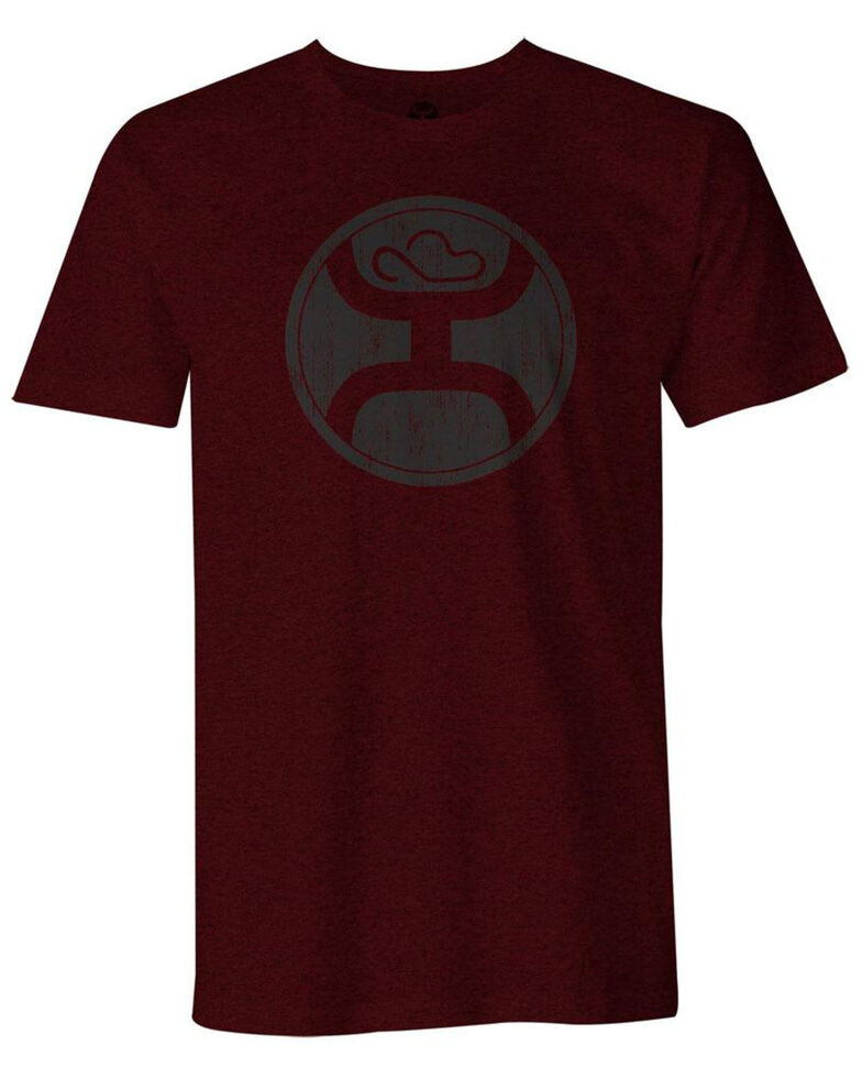 HOOey Men's Burgundy 2.0 Logo Graphic T-Shirt , Burgundy, hi-res