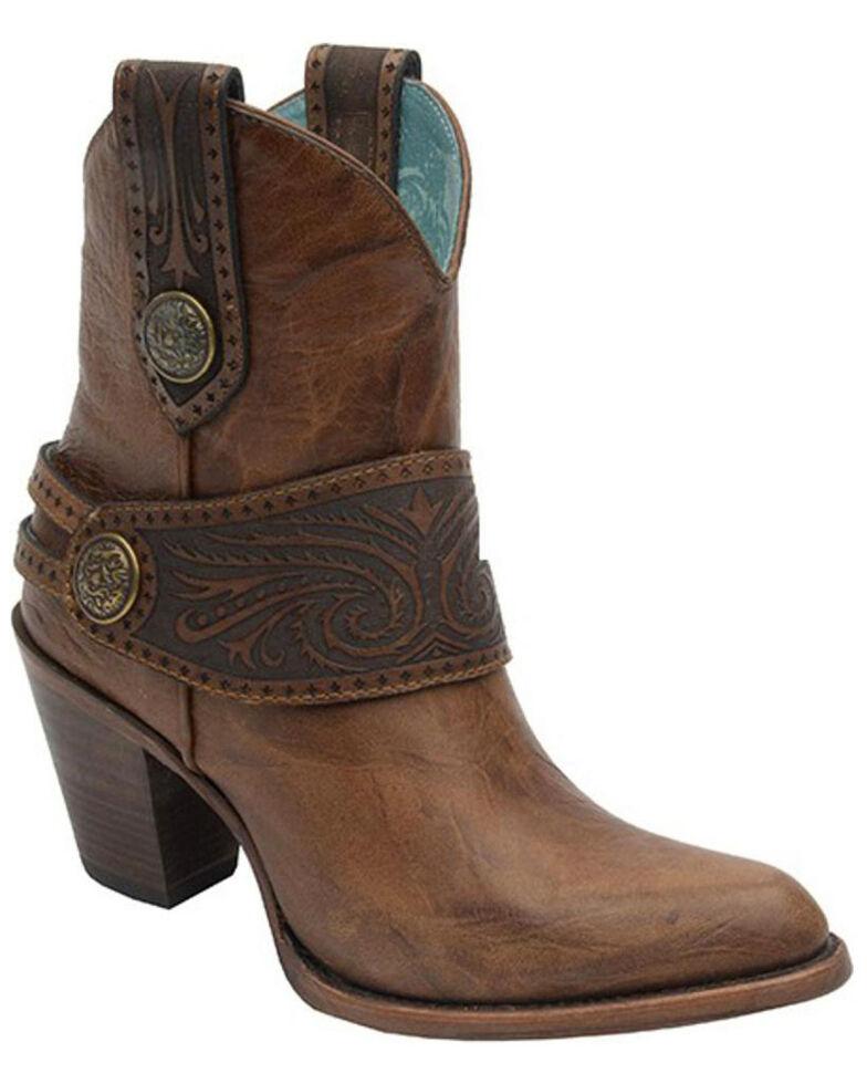 Corral Engraved Harness Boots - Medium Toe, Tan, hi-res