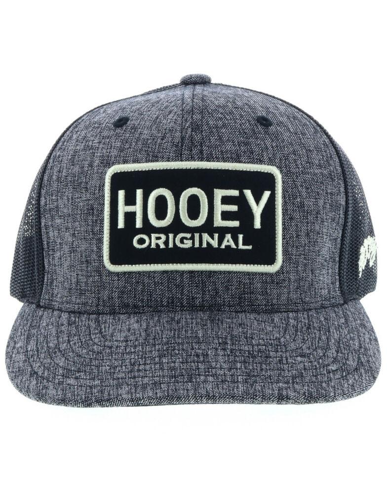 HOOey Men's Black Original Patch Trucker Cap, Black, hi-res