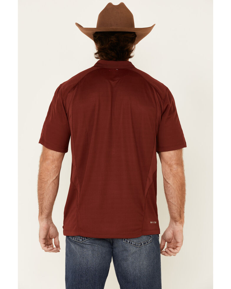 Ariat Men's AC Solid Short Sleeve Polo Shirt - Tall , Red, hi-res