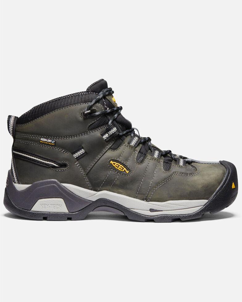 Keen Men's Detroit XT Waterproof Work Boots - Steel Toe, Black, hi-res
