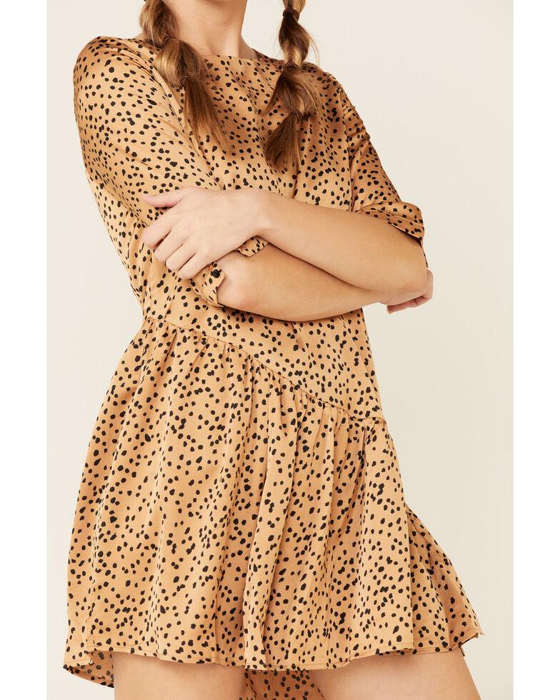 Wishlist Women's Satin Dot Dress, Taupe, hi-res