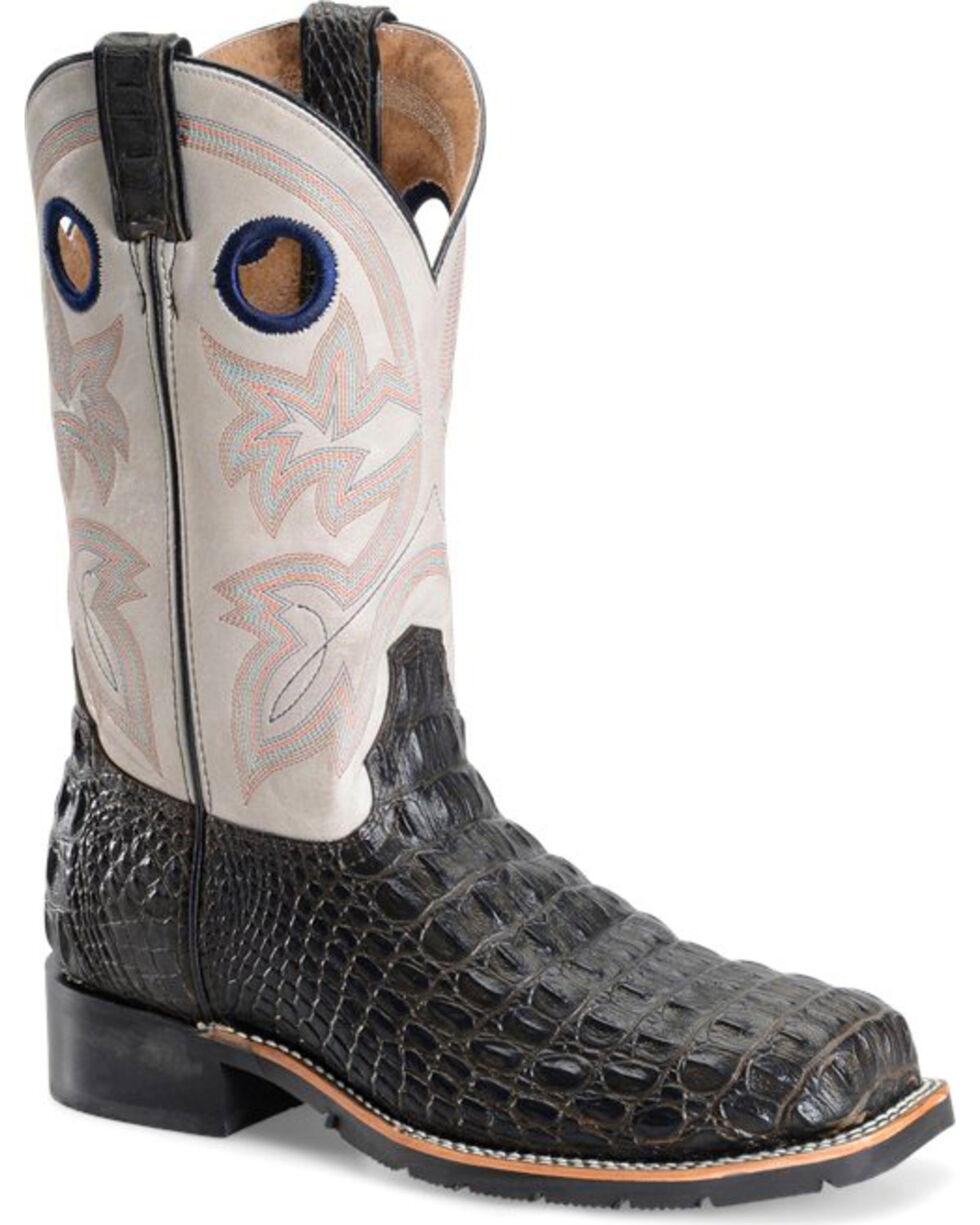 Double H Men's Chocolate Caiman Print Work Boots - Steel Toe, Brown, hi-res