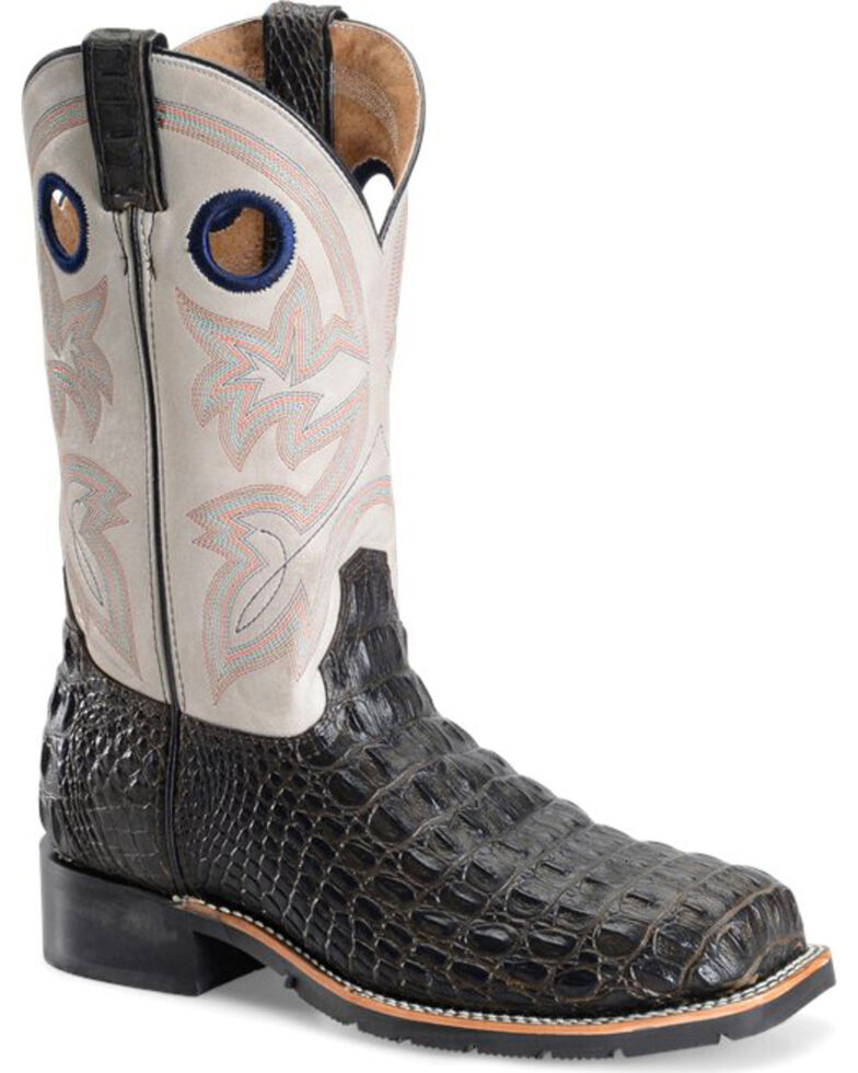 3c749b19cbc Double H Men's Chocolate Caiman Print Work Boots - Steel Toe