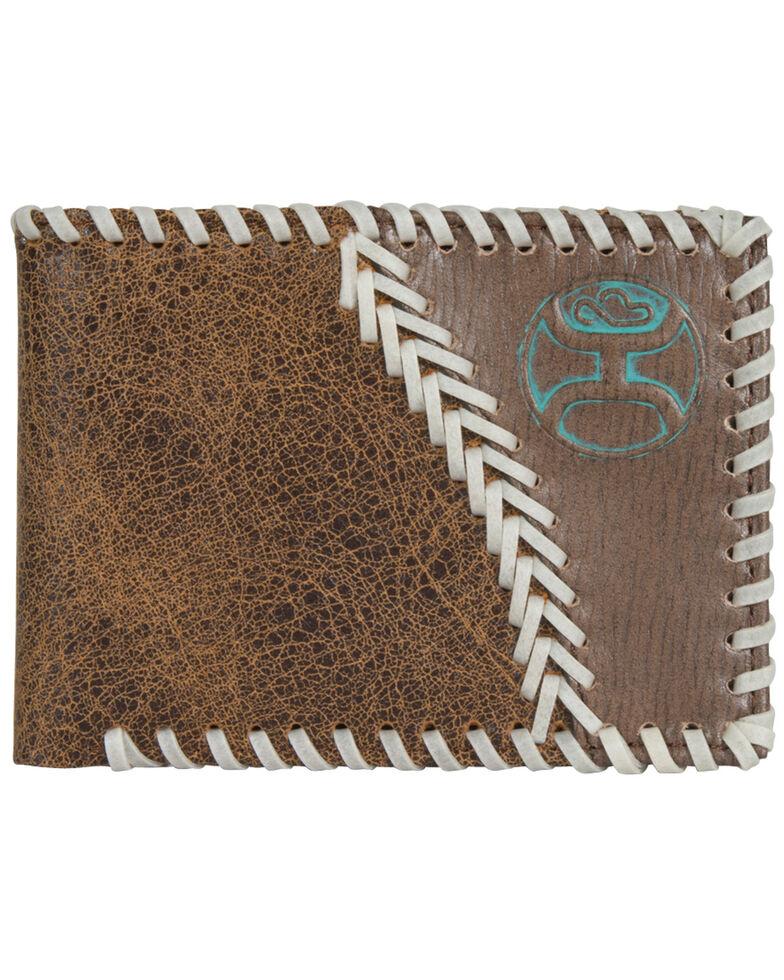 HOOey Men's Bifold Leather Wallet, Brown, hi-res