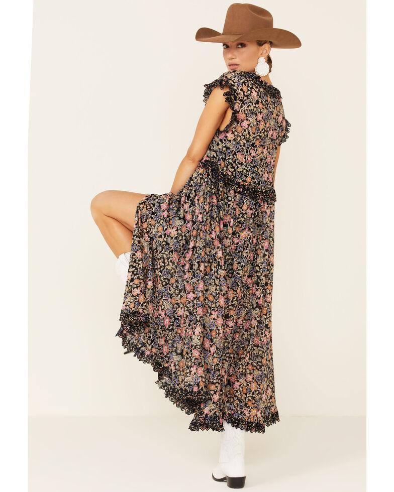 Free People Women's Milania Midi Dress, Black, hi-res