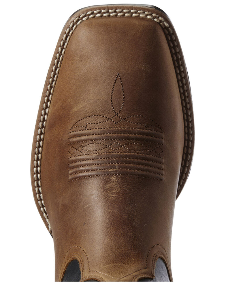 Ariat Men's Ryden Ultra Western Boots - Wide Square Toe, Brown, hi-res
