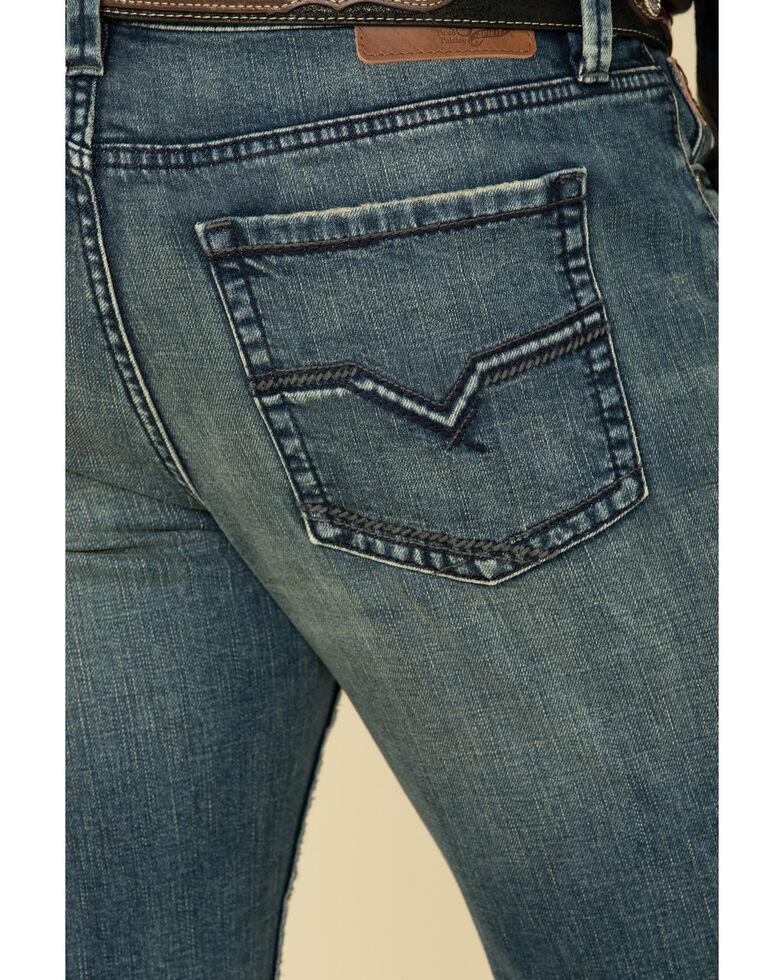 Moonshine Spirit Men's Deep Pockets Dark Stretch Slim Boot Jeans , Blue, hi-res