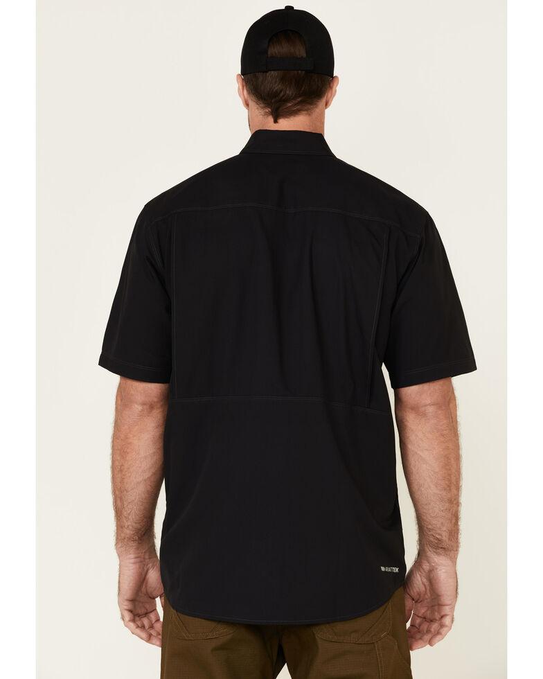 Ariat Men's Solid Black Ventek Outbound Short Sleeve Button-Down Western Shirt - Tall, Black, hi-res