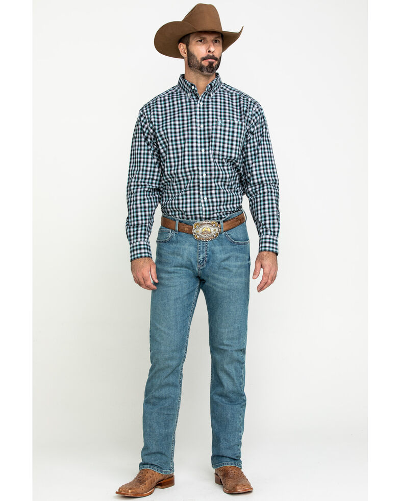 Ariat Men's Keene Multi Plaid Long Sleeve Western Shirt , Multi, hi-res