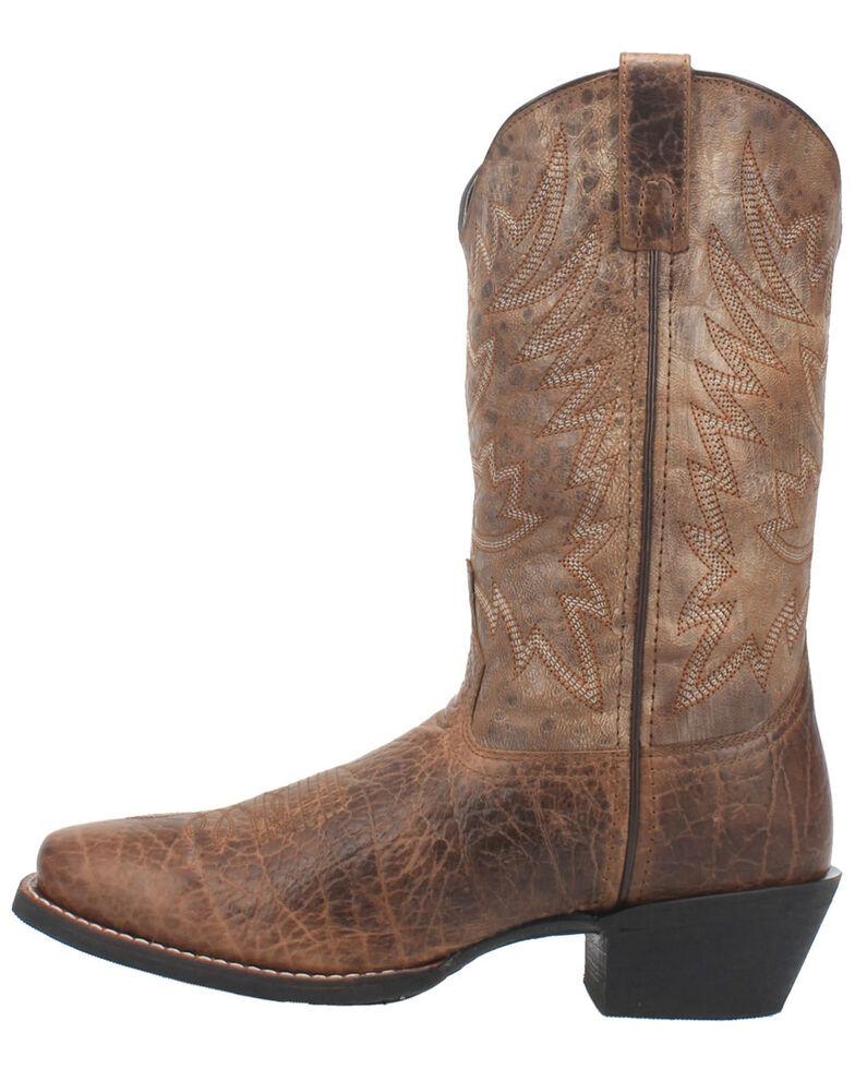 Laredo Men's Alfred Western Boots - Square Toe, Brown, hi-res