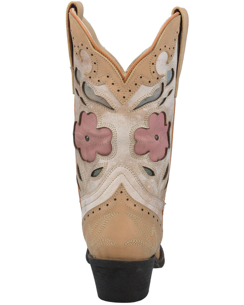 Laredo Women's Bold & Beautiful Western Boots - Snip Toe, Off White, hi-res