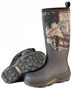 Muck Boots Men's Woody Max Rubber Boots - Round Toe, Bark, hi-res