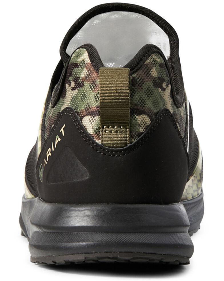 Ariat Men's Camo Mesh Fuse Olive Shoes - Round Toe, Olive, hi-res