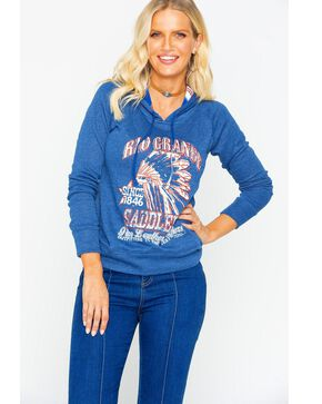 Panhandle Women's Rio Grande Chief Knit Hoodie, Blue, hi-res