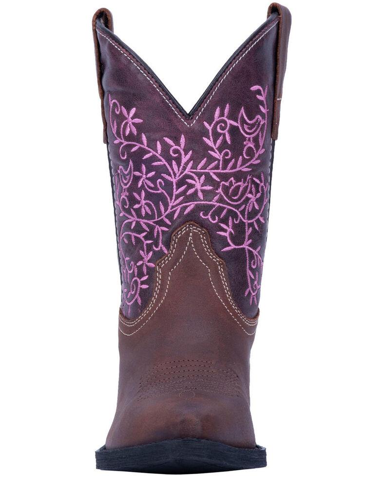 Dan Post Girls' Marissa Western Boots - Snip Toe, Brown, hi-res