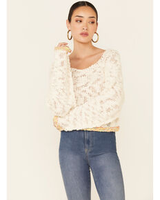 Free People Women's Ivory West Palm Sweater , Ivory, hi-res