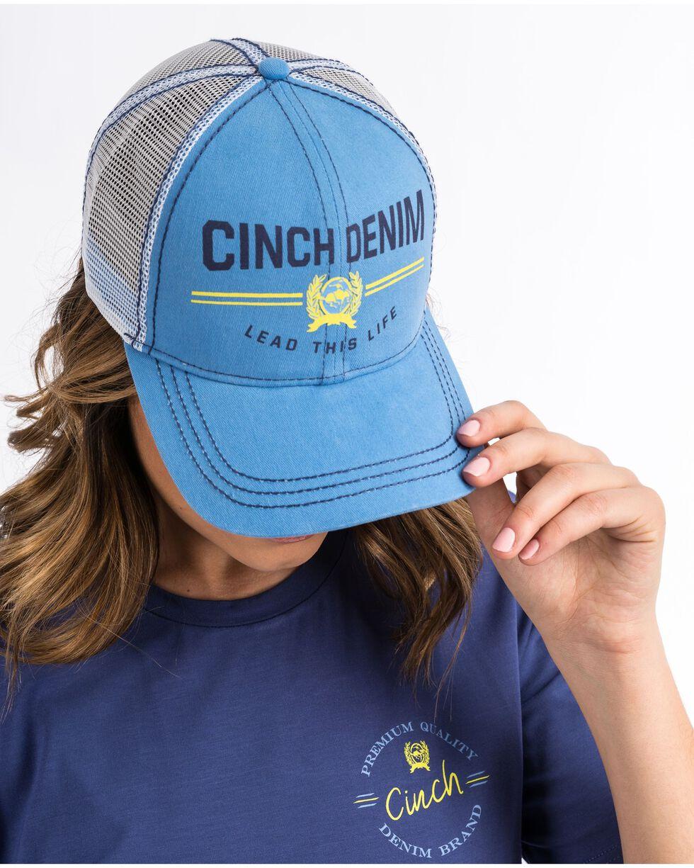Cinch Women's Lead This Life Trucker Cap, Blue, hi-res