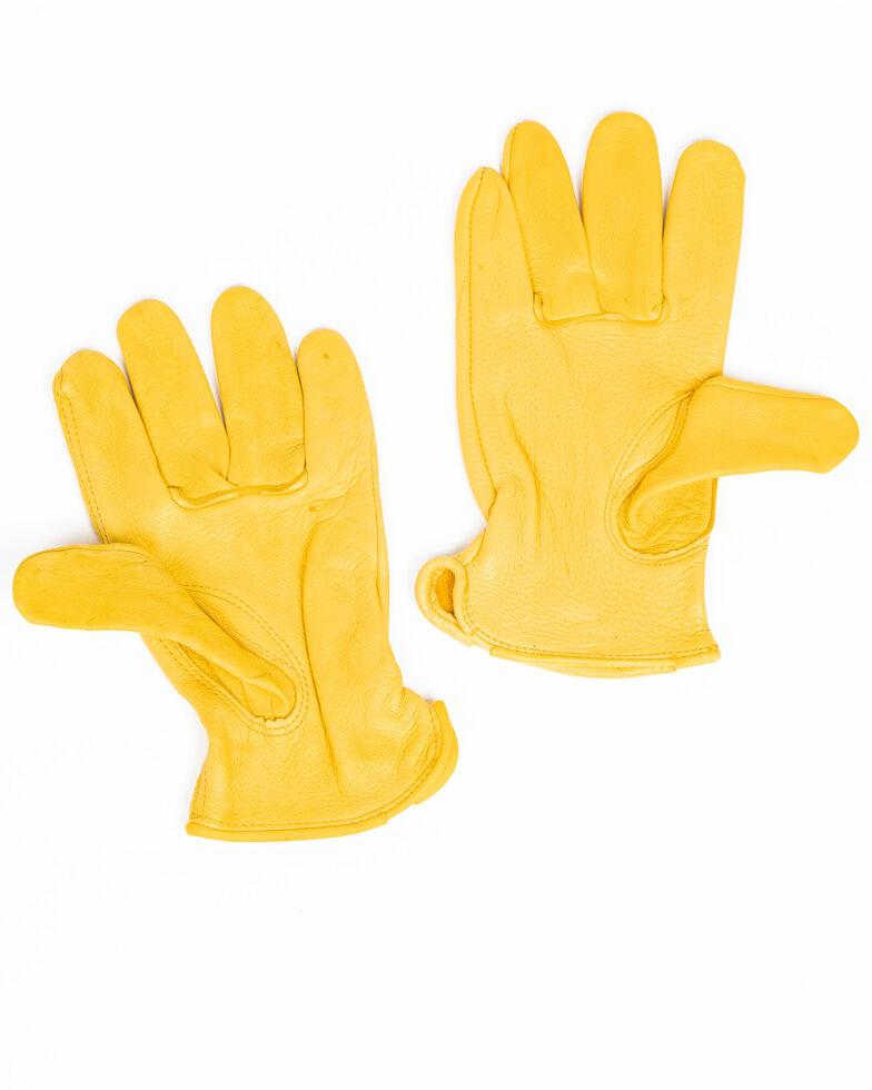 Cody James Men's Driver Work Gloves, Brown, hi-res