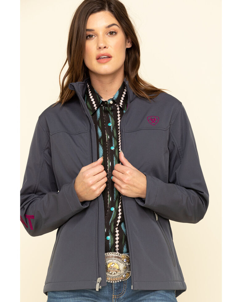 Ariat Women's Grey New Team Softshell Jacket, Grey, hi-res