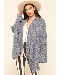 Free People Women's BFF Cardigan , Navy, hi-res