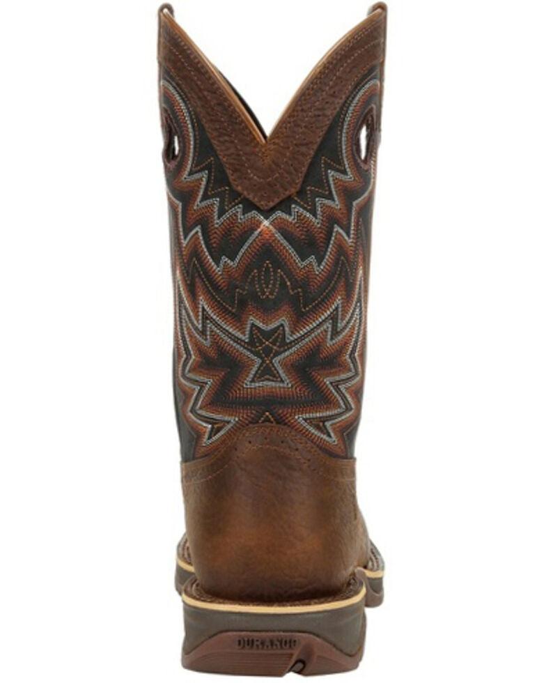 Durango Men's Rebel Chocolate Western Boots - Square Toe, Chocolate, hi-res