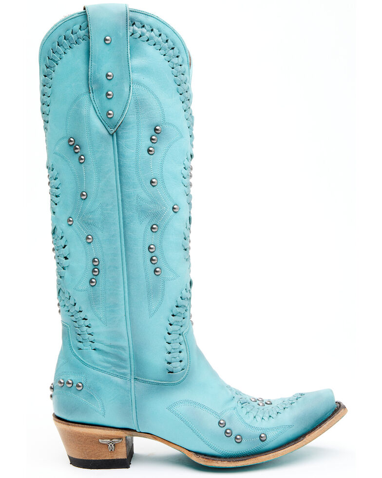 Lane Women's Cossette Western Boots - Snip Toe, Turquoise, hi-res