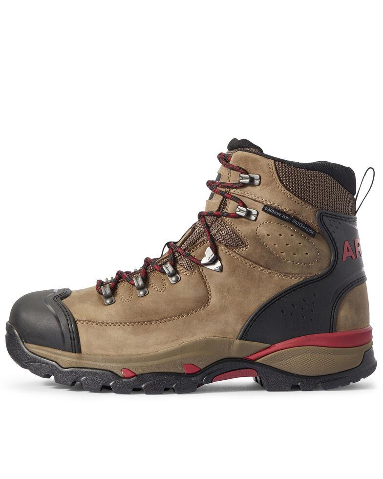 Ariat Men's Brown Endeavor Dark Storm Waterproof Work Boots - Composite Toe, Brown, hi-res
