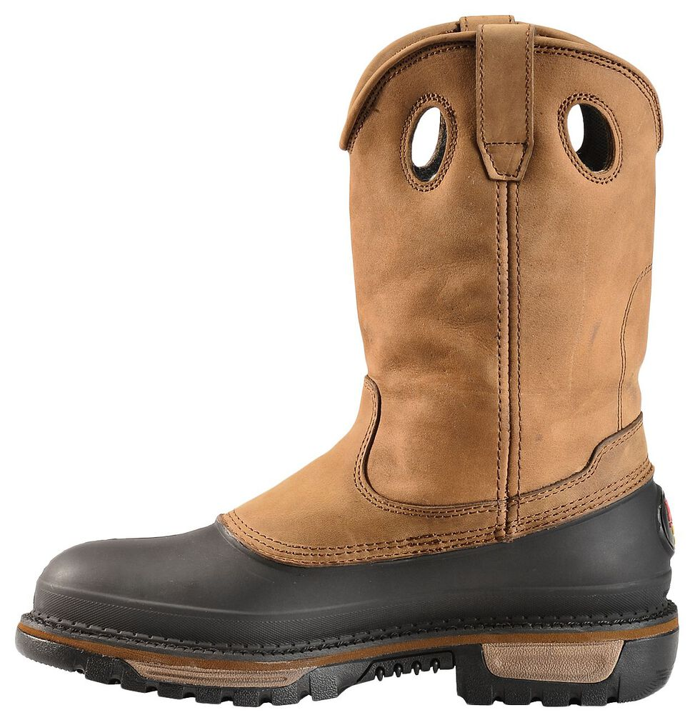 Georgia Mud Dog Waterproof Pull-On Work Boots - Steel Toe, Brown, hi-res