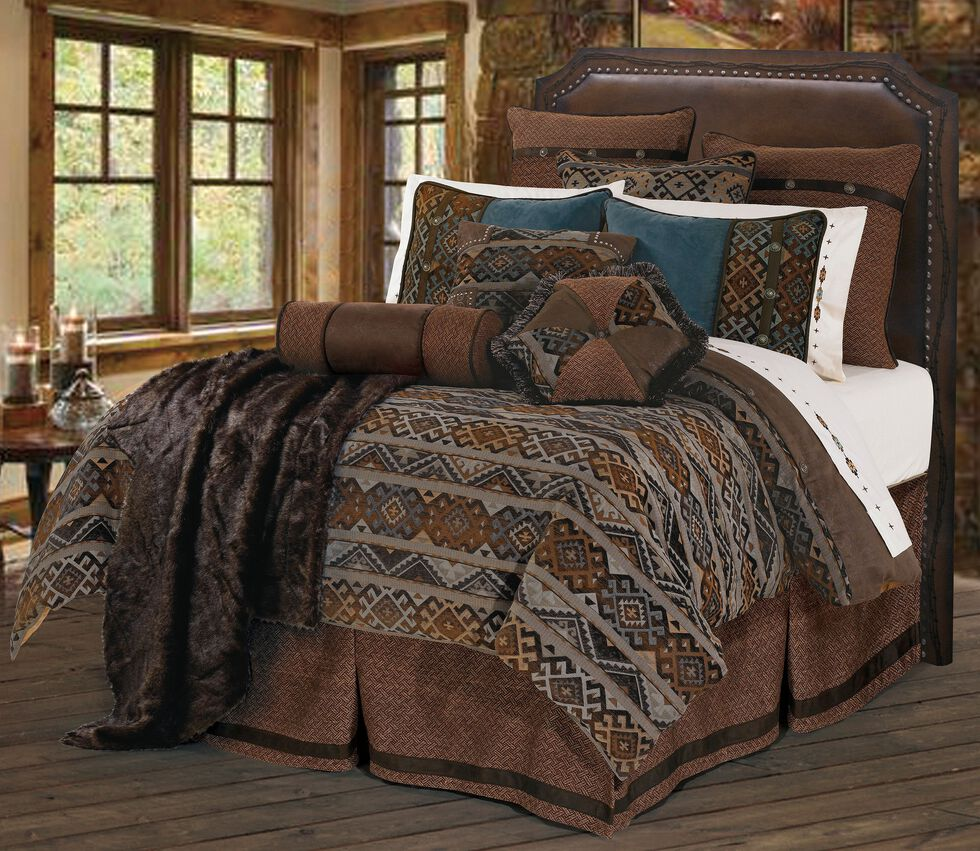 HiEnd Accents Rio Grande Full Size Bedding Set, Multi, hi-res