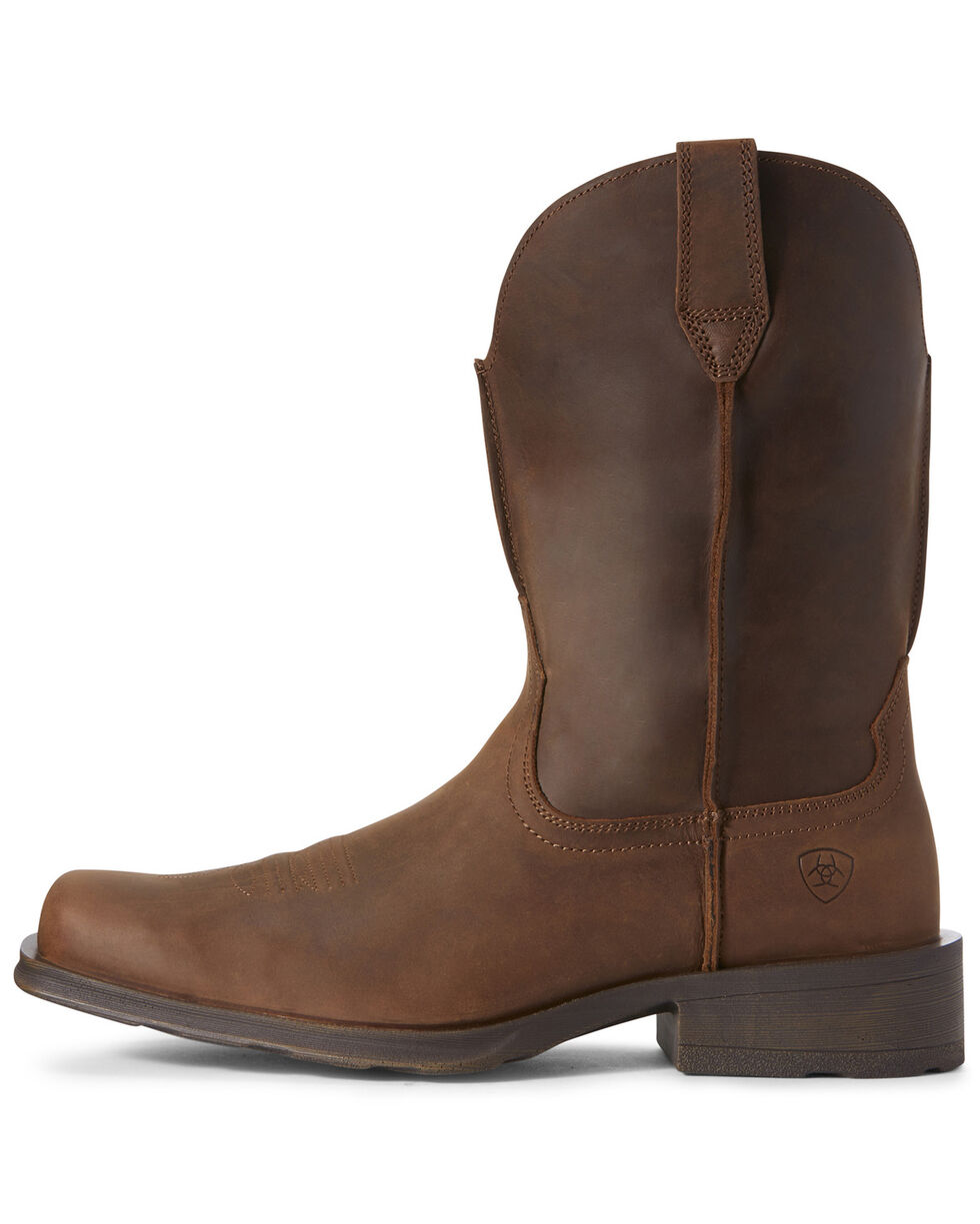 Ariat Men's Rambler Distressed Western Boots - Square Toe, Brown, hi-res