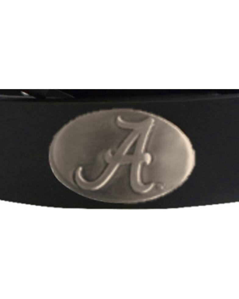 Collegiate Men's University of Alabama Bridle Leather Belt , Black, hi-res