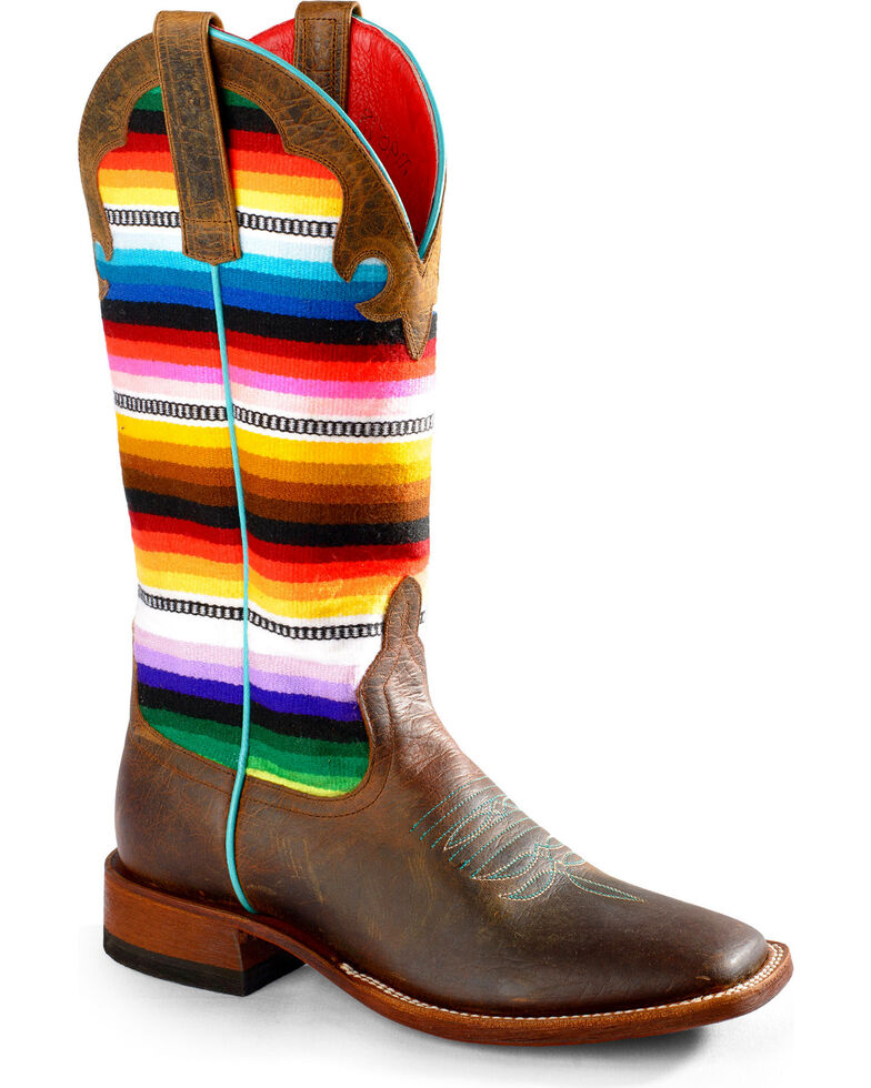 Macie Bean Women's Lefty's Pancho Boots - Square Toe, Toast, hi-res