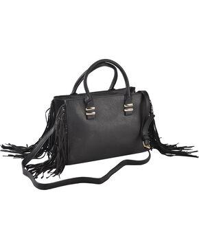 Wear N.E. Wear Women's Fringe Handbag, Black, hi-res