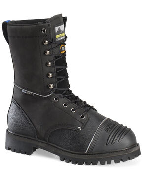 Matterhorn Men's Waterproof Lace-Up Work Boots - Steel Toe, Black, hi-res